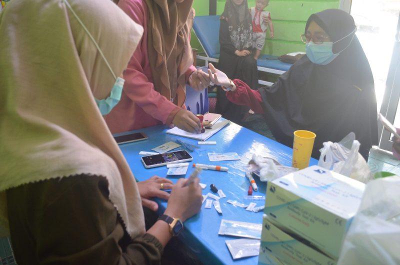 Pengurus dan Sdm Pesantren Al Ittifaqian Indralaya Jalani Rapid Test