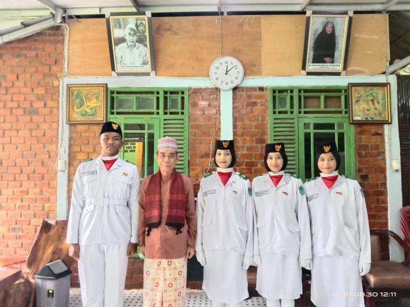 Silaturahim paskibra kabupaten Ogan Ilir utusan MA  Al Ittifaqiah ke mudir ponpes Al Ittifaqiah